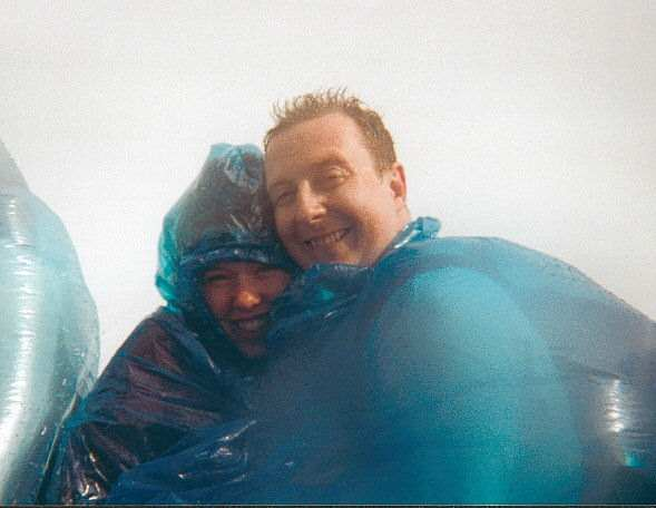 Adam and Lyn just after getting engaged on the Maid of the Mist boat!