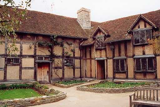 Behind Shakespeare's House