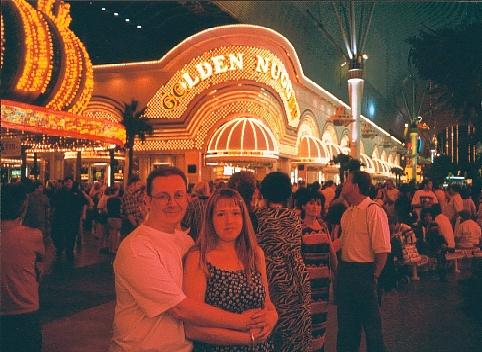 Me and Lyn in Fremont Street